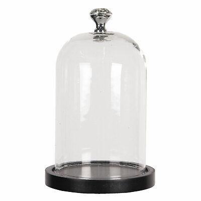 kleine Glas Glocke Haube mit Vogel Shabby Brocante Vintage
