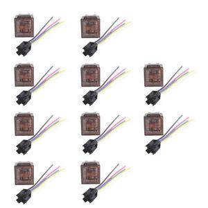 10x-12V-80A-5-Polig-5-Wire-Umschalter-Wechselrelais-Arbeitsstromrelais-Socket-AT