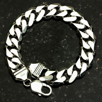 Curb 350-9 13mm Heavy 48 Gram .925 Sterling Silver Bracelet 9 on sale