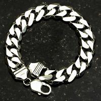 Curb 300-8 11mm Heavy 36 Gram .925 Sterling Silver Bracelet 8 on sale