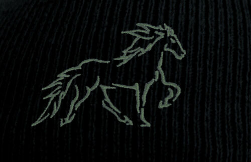 Wintermuetze cavaliers bonne nuit de Beanie Hip-Hop Motif 5 vitesses Island chevaux toelt 54846