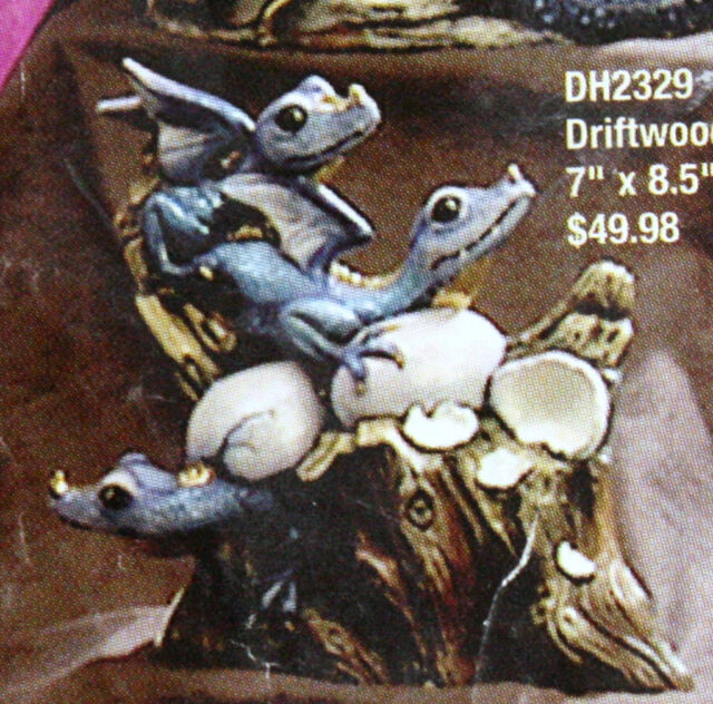 Ceramic Bisque Dragon Hatchlings Doc Holliday Mold 2329 U-Paint Ready To Paint