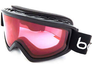BOLLE-FREEZE-Mascherina-Da-Sci-Snowboard-NERO-LUCIDO-Vermiglio-CAT-2-Lenti