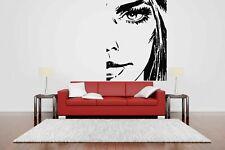 Wall Vinyl Sticker Decals Mural Room Design Art Marilyn Tattoo Face    bo611