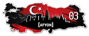 Details Zu Afyon 03 Aufkleber Sticker Türkei Motiv Fahne Für Auto Motorrad Laptop