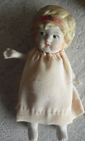 """Vintage JAPAN Jointed Arms Bisque Character Girl Doll 4 5/8"""" Tall"""