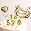Hot-Number-0-9-Happy-Birthday-Cake-Candles-Gold-Topper-Party-Supplies-Decoration thumbnail 2