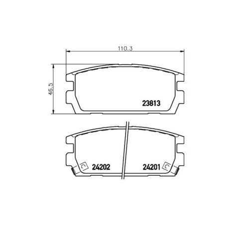Textar Bremsbeläge hinten Hyundai Terracan 2,5-3,5 CRDi V6 TD 4WD Mando