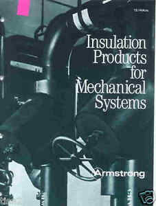 Details about ARMSTRONG Industrial INSULATION Mech Sys Catalog 1983  Armaflex ASBESTOS HISTORY