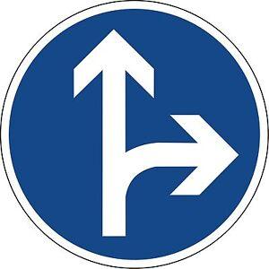 Verkehrszeichen-214-10-Fahrtrichtung-geradeaus-oder-rechts-600-amp-420mm