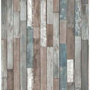 Fine Decor Bois Distinctif Parquet Réclamer Fond D'écran Bleu (fd40888) W7eqtsfr-07181426-464772683