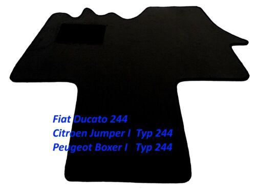 Casa de conductor alfombra asideros Fiat Ducato todos los modelos más noble gamuza elegancia