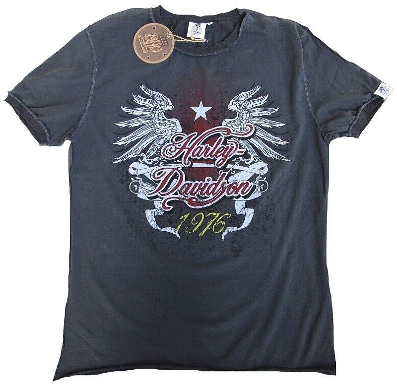 H-D CLASSIC Authentic HARLEY DAVIDSON 1976 Wings Vintage Designer ViP T-Shirt S