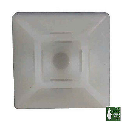 Durite Sticky-Back Cable Tie Base White Pk25-0-002-51