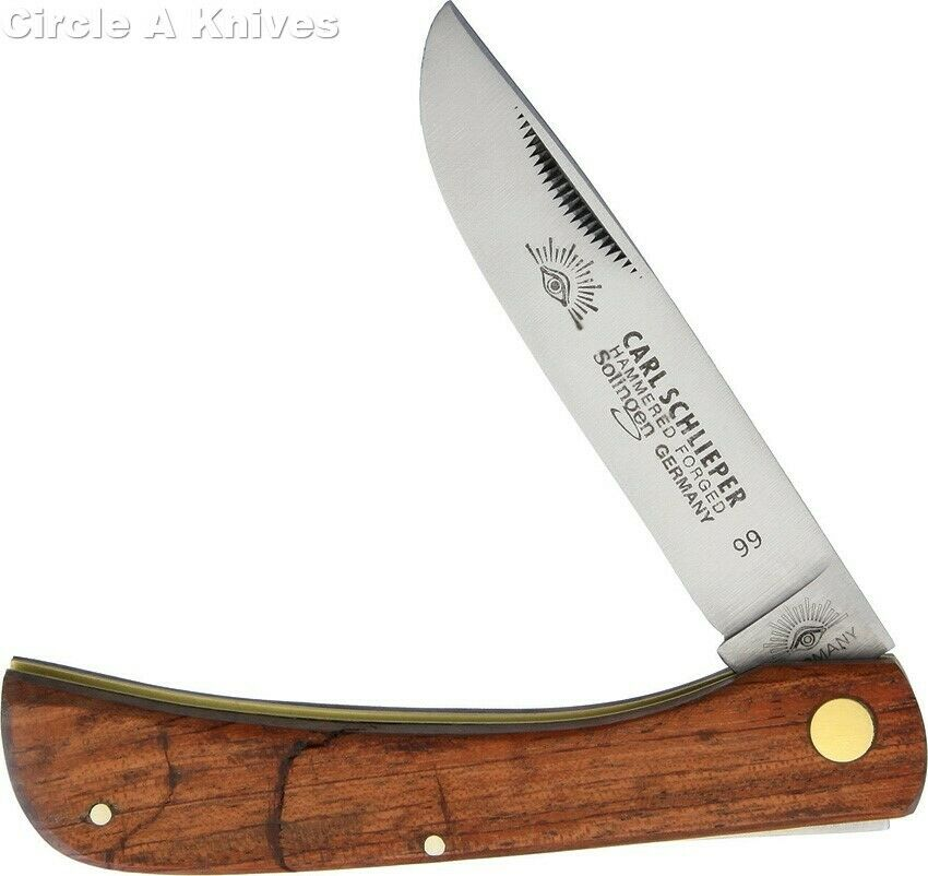 GERMAN EYE BRAND CUTLERY KNIFE - #GE99 CLODBUSTER -WOOD HANDLE- MADE IN GERMANY