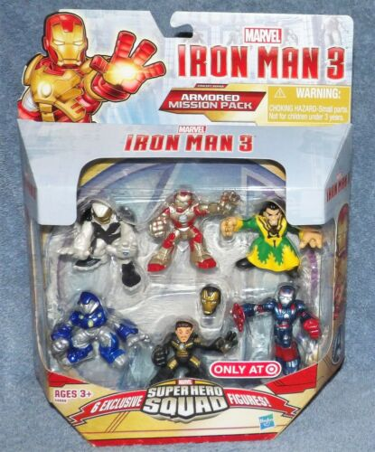 SUPER HERO SQUAD IRON MAN 3 ARMORED MISSION PACK 6 FIGURES TARGET EXCLUSIVE