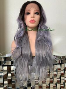 silver-gray-wig-Wavy-Layered-Ombre-Black-Heat-Ok-26-Inch-Long