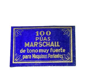 Grammophonnadeln-MARSCHALL-100-Stueck-fuer-039-s-Grammophon-vintage-gramophone-needle