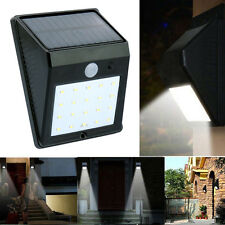 20LED Solar Power PIR Motion Sensor Wall Light Outdoor Garden Waterproof Lamp US