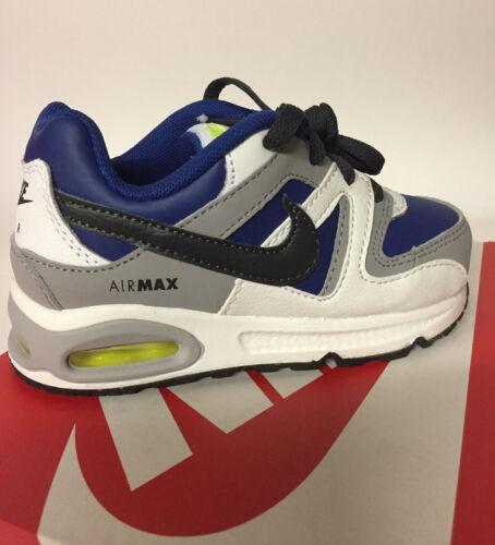 Nike AIR MAX COMMAND (TD) BIANCO-BLU-NERO-GRIGIO TAGLIA 7.5 Bambini Nuovo £ 28.99