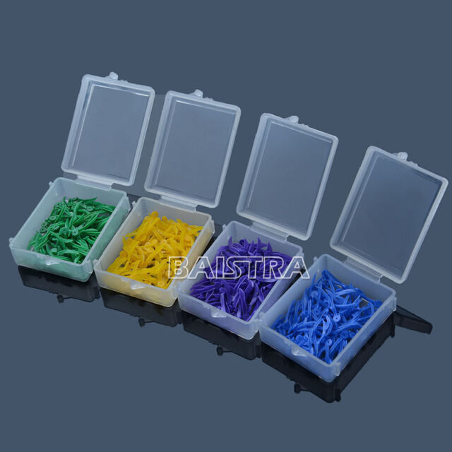 SALE Dental 400pcs Plastic Poly-wedges with Holes Round Stern 4 Sizes