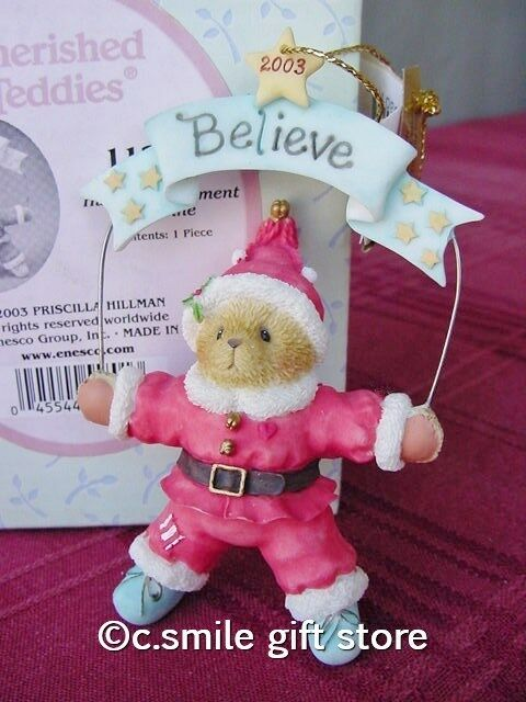 Cherished Teddies *2003 BELIEVE Ornament*  item #112392 Enesco MIB RARE!!!