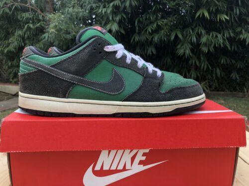 Nike SB Dunk Low Pine Green Black Atomic 2011 Sz 1