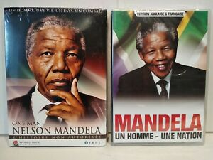 NELSON-MANDELA-Un-homme-une-nation-One-Man-Lot-2-DVD-PAL-Zone-2-NEUF