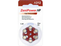 Zenipower Zinc-air Hearing Aid Battery Size 312 (60)
