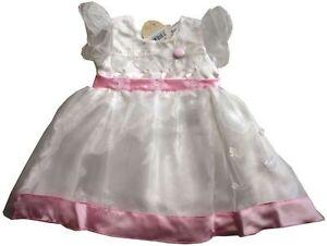 cda510dc8b6 Magnifique Robe BEBE BLANCHE ET ROSE POUR NOEL - 2 ans