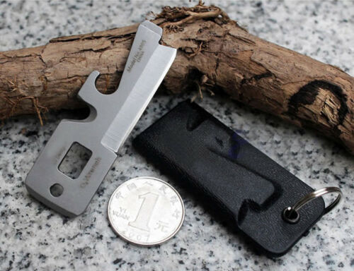 Multifunction Stealth Survival Tool Defense Spoon Fork Bottle Opener Carabiner