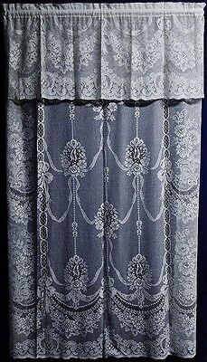 Beautiful cotton blend  Ayshire Lace Valances, Swags and Panels for your Windows