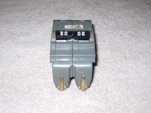 UB INC Stab-Lok NA NA220 20-Amp 2-Pole 20A 2P Circuit Breaker THICK FPE