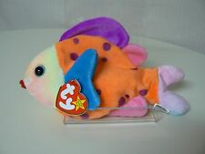 Ty Beanie Baby LIPS Plush Blue Orange Purple Pink Fish Unique Color Variations