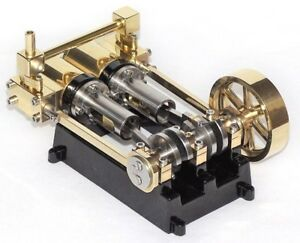 Live Steam - Twin Cylinder Mill Model Steam Engine Fully Machined Metal Kit