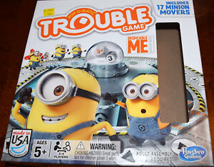 Despicable-Me-Edition-Trouble-Board-Game-Replacement-Parts-amp-Pieces-2014-Hasbro