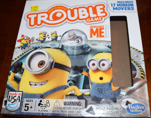 Despicable Me Edition Trouble Board Game Replacement Parts & Pieces 2014 Hasbro