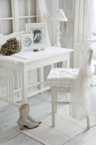 Sitzkissen Kissen Weiß White Zierkissen Dekokissen Landhaus Shabby Chic