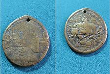 Medaglia devozionale con foro Madonna Loreto/piazza Loreto