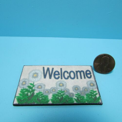 MINIATURE DOLLHOUSE 1:12 SCALE WELCOME DOOR MAT-WELCOME TO MY DOLLHOUSE-HW475AM