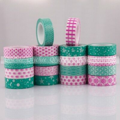 1 Pc Sticky 10 Meters Washi Tape Paper Adhesive Sticker Decorative Masking DIY
