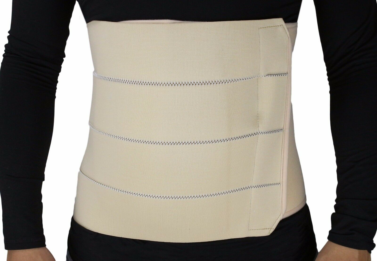 MB-2322NL 4-Panel Abdominal Binder, Belly Wrap Brace–Trimming (L  34 – 38 in)