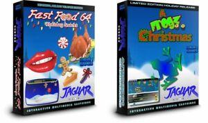 FAST-FOOD-64-HOLIDAY-SNACKS-and-A-FROGZ-64-CHRISTMAS-ATARI-JAGUAR-BUNDLE-DEAL