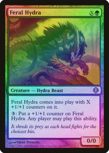 Feral Hydra FOIL Shards of Alara PLD Green Rare MAGIC GATHERING CARD ABUGames