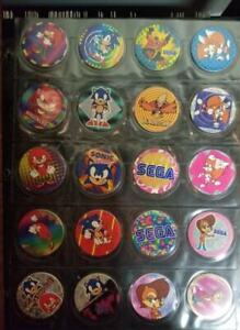 Pogs-Sega-Sonic-the-Hedgehog-RARE-Complete-Set-from-Canada