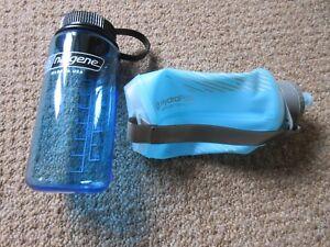 296871293c HydraPak Softflask 500ML ( 17 fl oz ) + Nalgene Water Bottle 400ML ...
