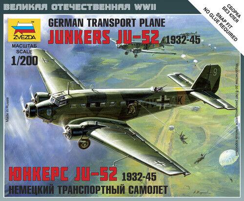 Zvezda #6139-1:200 Junkers JU-52 German Transport Plane 1932