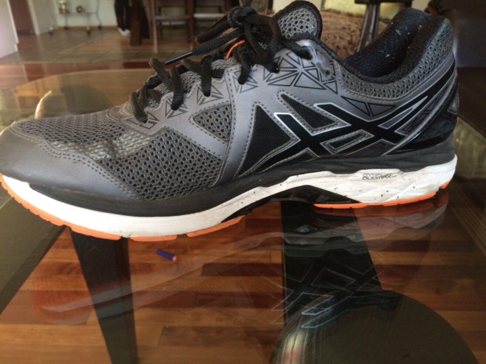 Asics GT 2000 v4 Size 12 M (D) Men's Running Shoes Sneakers Gray Orange T606N