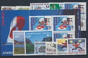 Gronland-Jahrgang-1993-postfrisch-in-den-Hauptnummern-kompl-ohne-Block-6-7-8