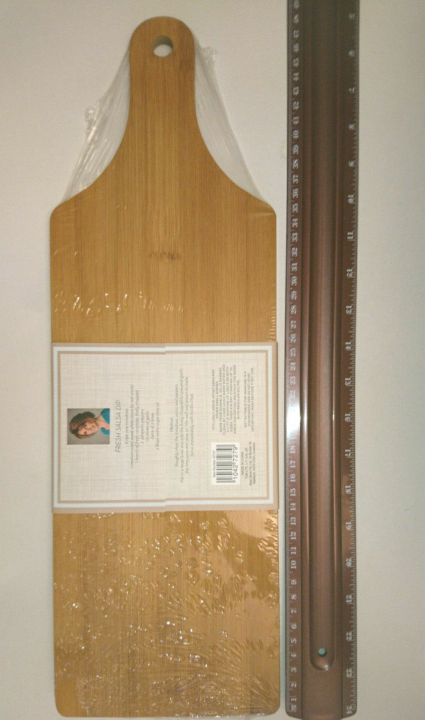 """BAMBOO SERVING ENTERTAINING BOARD 18 x 6/"""" JANE ASHER HOME INSPIRATION Party Tray"""